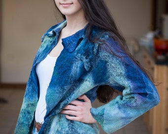 Nuno felted jacket
