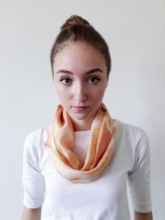 Yellow Scarf-Infinity Scarf-Silk-Scarf-Scarves-Scarves for Fall-Scarves for Summer--Scarves for Spring-Holiday Gift-Gift for Mom-Gift for My