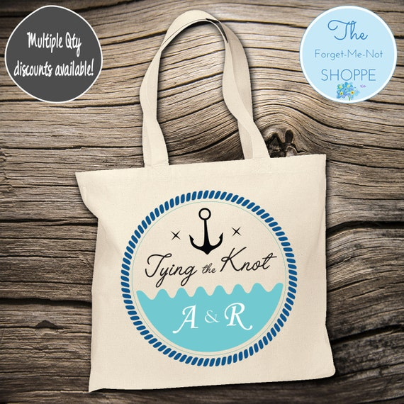 Anchor Beach Wedding Tote Bag ~ Bride to Be tote bag, Nautical,Beach Wedding,Mother tote, Wedding party tote, Wedding Favor, Gift Tote T003