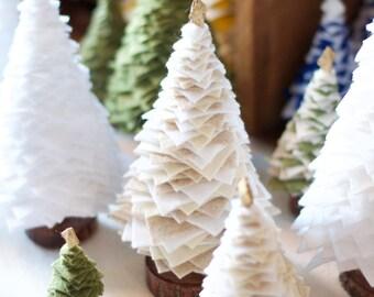 Felt & Felted Wool Christmas Tree Home Decorations, felt tree, holiday home decor