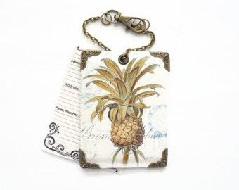 Vinyl Pineapple Luggage Tags
