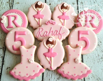 Ballet Ballerina Tutu First Birthday Cookies