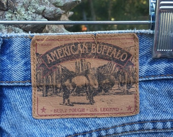 High waisted cheeky vintage American Buffalo denim short womens size 7
