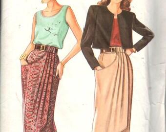 "New Look 6233, Sz 8-18/Hips 33.5-42""/Eur 34-44.  Sleeveless top, Midi with Overlay, pocket, side zipper &back slit,RARE UNCUT Misses pattern"