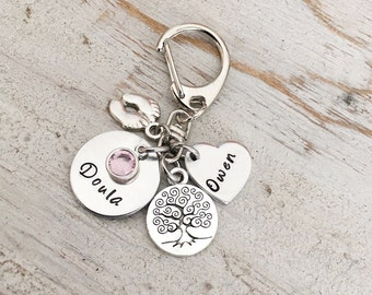 Doula Thank You Gift - Doula Key Chain Gift -  Birth Doula Jewelry - Doula Appreciation Necklace - Doula Certification Gift