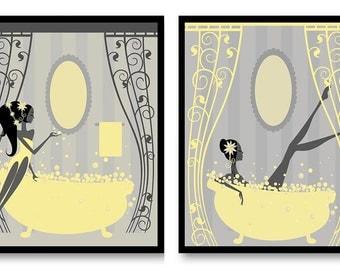 Yellow Gray Decor | Etsy