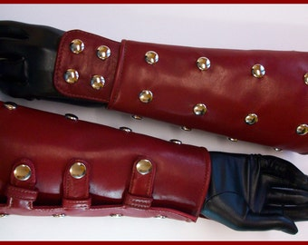 Real leather arm bracer with stud