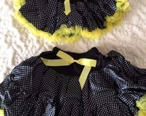 Summer Yellow Polka Dot Pettiskirt Tutu Size XS (newborn to 3 months)  and Medium (5-7 years)