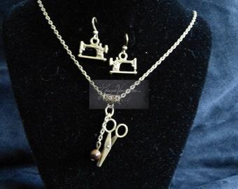 "Ornament fairy ""Haute Couture"" sewing scissors semi precious bronze magic wicca protection luck stone Tiger eye machine"