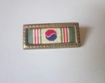 WW1 WW2 Military Bar Campaign Pin - Yin Yang Symbol - South Korea