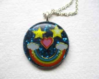 Rainbow Face Necklace