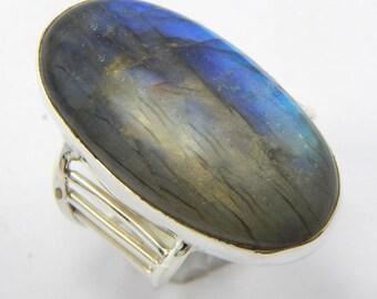 Labradorite ring,stone ring  silver ring, silver Labradorite ring, 92.5 sterling silver, Labradorite Silver Ring,Handmade Ring size us 7
