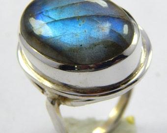 Labradorite ring,stone ring  silver ring, silver Labradorite ring, 92.5 sterling silver, Labradorite Silver Ring,Handmade Ring size us 7.5