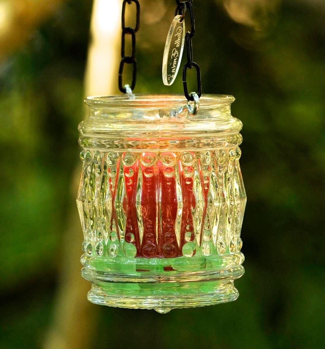 Candle holder hanging rustic lantern hanging candleholder for Alternative candle holders