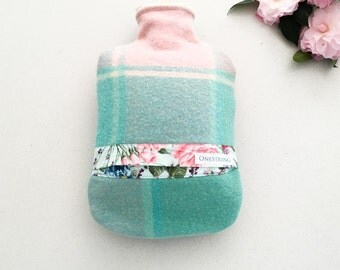 Vintage Wool Hot Water Bottle Cover | Pastel | Michael Miller