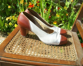 American 1940s original spectater shoes size 9UK