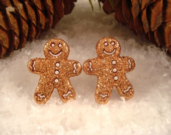 Gingerbread Man Holiday Earrings