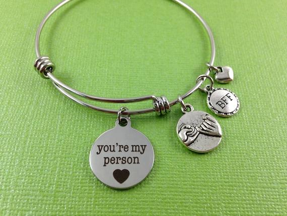 you re my person charm bracelet swear bracelet