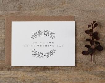 Wedding Card To My Mom Wedding Day - To My Mother Wedding Card, Wedding Stationery, To My Mom, Thank You Wedding Card, Wedding Note, K9