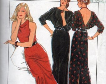 Vintage 1980s Evening Gown  Size 10   Style 4017