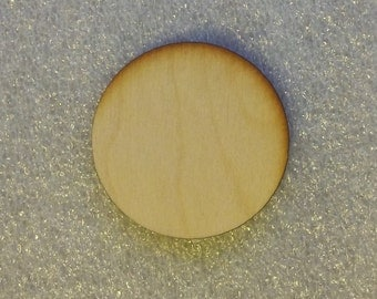 5 inch Wooden Laser Cut Circle Disk