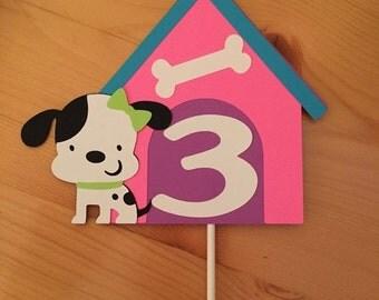 VDAY SALE // Puppy Party Cake Topper // Smash Cake Topper // Puppy Cake Topper // Puppy Party // Girl Birthday Party // Puppy Dog Birthday C