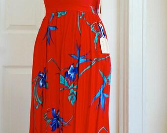 Red Iris Skirt, Size small