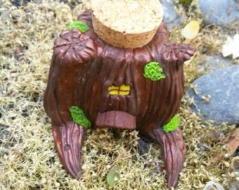 OOAK Polymer Clay Fairy House Jar