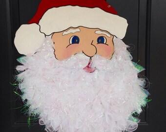 Santa Claus Door Hanger, Christmas Door Hanger, Custom Door Hanger, Christmas Home Decor