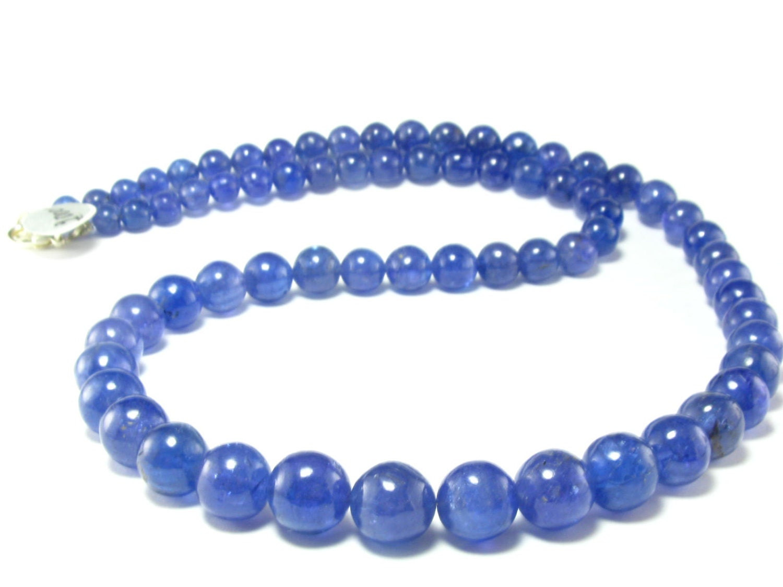 tanzanite necklace w 22