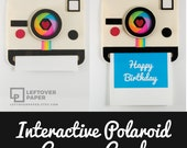 Happy Birthday Camera Card - Happy Birthday Polaroid Card - Camera Card - Interactive Camera Card