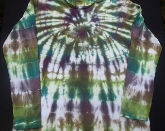 Women's Extra-Large Long Sleeve Tie-Dyed T-Shirt
