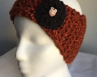 Crochet Ear Warmer // Crochet Winter Headband // Crochet Owl Headband // Winter Weather Headband