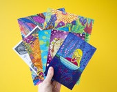 7 Art Postcard Exclusive Set