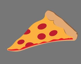 pizza vinyl sticker
