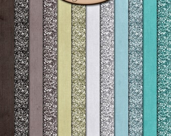 Digital Scrapbook: Paper, Glitter and Solids, Sea Kissed
