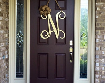 letters for front door initial monogram front door wreath metal by 17357