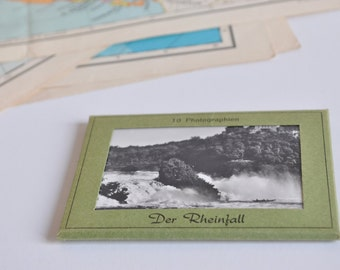 Block of vintage postcards of waterfalls to Rheinfall-Switzerland