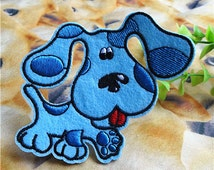 Blue Dogs Iron on Patches Cartoon Clothing Applique 553-H