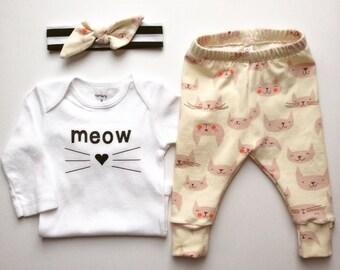 Kitty Knits Leggings-Baby/Toddler