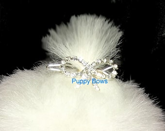 Puppy Bows ~ Tiny Bowknot pet hair accessory barrette clip dog bow ~ US Seller