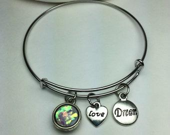 Blingy bangle bracelets