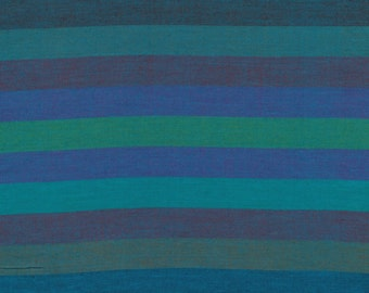 BROAD STRIPE Woven  BLUE abroad.bluex by Kaffe Fassett fabric sold in 1/2 yard increments