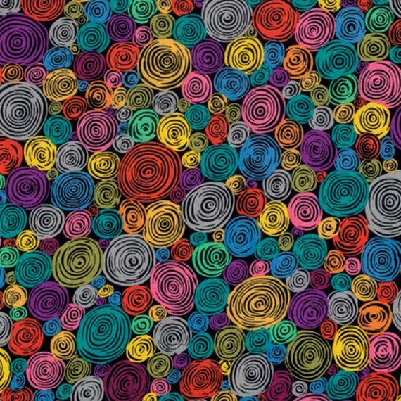 ROLLED PAPER BLACK Kaffe Fassett sold in 1/2 yard increments