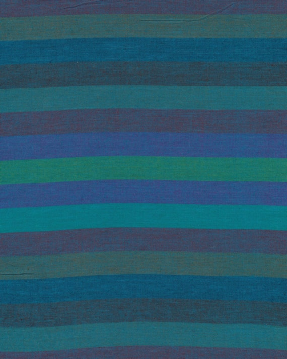 BROAD STRIPE Woven  BLUE abroad.bluex by Kaffe Fassett fabric sold in 1/2 yard increments
