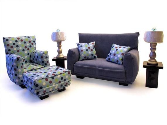 Barbie Doll Living Room Furniture 9 Pc Play Set 1 6