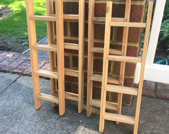 """Small Wooden Ladder. Decorative Ladders. GROUP of FOUR (4). Crafting Ladder. Ladders to Decorate or Paint.  20 1/2"""" x 6 1/4"""" x 1 1/2""""."""