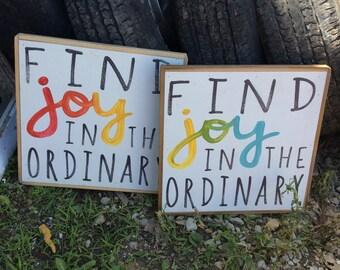 Find joy- sign