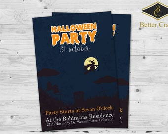 Halloween Invitation | Halloween Party | Custom Invitation Design