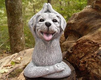 Yoga Statue,Meditating Dog Statue,Yoga Dog,Buddha Statue,Zen Statue,Outdoor Zen Garden Decor,Concrete